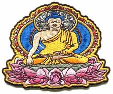 ZEN sitting buddha EMBROIDERED IRON-ON PATCH buddhist buddhism **FREE SHIPPING**