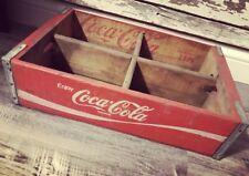 Vintage 1976 Red Coke Coca Cola Wood Soda Pop Case Crate