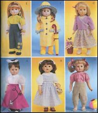 """Raincoat Hat Poodle Skirt Jeans Dress 18"""" Doll Summer Clothes Sewing Pattern"""