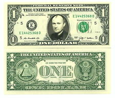 PHIL COLLINS - VRAI BILLET de 1 DOLLAR US ! GENESIS Collection Batteur Rock Prog