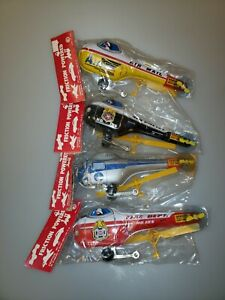 Instant Collection- Lot of 4 Vintage Japan Tin Litho Helicopter Friction Toy