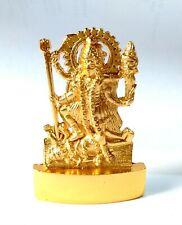 Kali Idol Kaali Murti Statue Mixed Metal 6.5 cm Height Golden Golden Energized