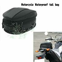 Motorcycle Rear Seat Tail Leather Pack Bag Expandable Luggage Bag PU Waterproof
