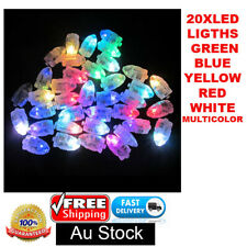 20X LED LIGHTS BALLOONS PAPER LANTERN WEDDING CHRISTMAS PARTY GLOW IN THE DARK