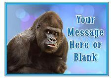 ND1 GORILLA APE Scimmia Compleanno Personalizzata A4 CAKE TOPPER glassa foglio