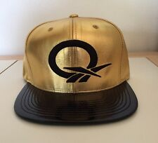 Reebok Men's HAT Sta3 Faux Leather Question Snapback GOLD FREE SHIPPING