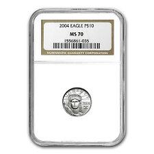2004 1/10 oz Platinum American Eagle MS-70 NGC - SKU #18626
