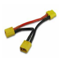 XT60 2 Male to XT60 1 Female Series Battery Connector Adapter Li-Po Cable 14AWG