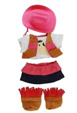 """Cowgirl Outfit inc hat boots & pony t-shirt Teddy Bear Clothes fit 8""""-10"""" bears"""
