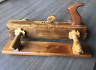 Cabinet Maker Woodworker Antique Wood Plough Plow Plane Screw Arm Needs Blade