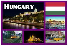 Hungría - RECUERDO ORIGINAL Imán de NEVERA - MONUMENTOS/Ciudades - REGALOS /