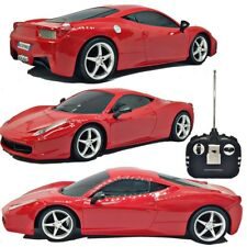 25CM 1:18 RED RC RADIO REMOTE CONTROL BOYS RACING TOY CAR LED HEADLIGHT SOUND UK