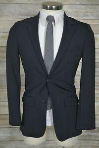 (34S) Apt 9 Mens Charcoal Gray SLIM FIT Birds Eye Blazer Sport Coat Jacket