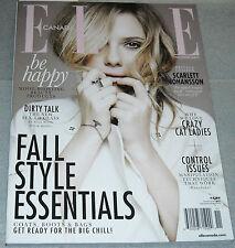 Elle Canada Magazine November 2013 Fall Style Essentials Scarlett Johansson