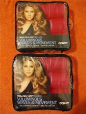 Two 9-Piece Packages of Conair Mega Self Grip Pink Rollers Voluminous Waves