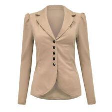 Cappotti e giacche da donna grigio formale in poliestere