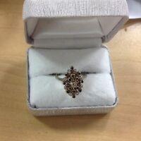 estate find 14k white gold sapphire an diamond ring size 7