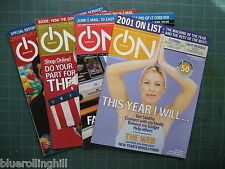 ON Magazine - Time Magazin Supplement  - 4 Issues - Aug/Nov/Dec 2001, Jan 2002
