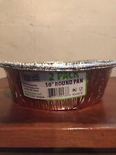 10 Inch Round Disposable Aluminum Foil Pan - 2 Pack