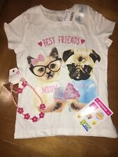 Children's Place Puppy Best Friend Shirt Sz S 5 6 Jewelry Justice Stickers Lot