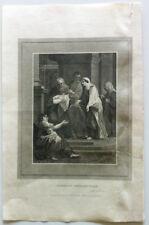 SIMEON'S BENEDICTION Halle Romney Gravure BIBLE BROWN 1814