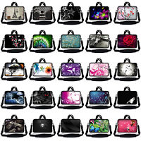 """10"""" 9"""" Tablet Netbook Sleeve Bag Case Pouch w Shoulder Strap iPad Kindle Galaxy"""