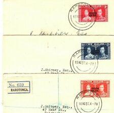 COOK ISLANDS First Day Covers {3}Raratonga New Zealand Overprints FDC 1937 AO120