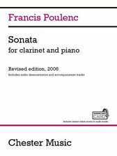 Francis Poulenc Sonata PLAY Classical  CLARINET PIANO Music Book & Download Card