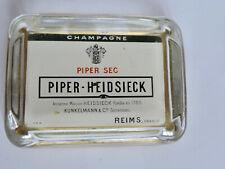 Cendrier Champagne PIPER HEIDSIECK Verre sérigraphié OR ancien
