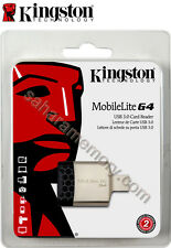 Memory Card Reader USB 3.0 Kingston FCR-MLG4 for SD/SDHC/SDXC, MicroSDHC XC U1