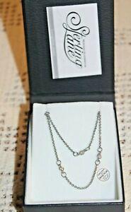 Montana Silversmiths Necklace Sterling Lane 2 Strand & CZ's #SLNC025~$85..NIB