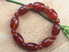 New Natural Red Agate 12.5x17mm Drum Beads Elastic Bracelet ..