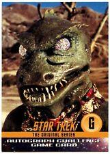 Gorn #G Star Trek Original  Series Autograph 1997 Challenge Game Card (C819)