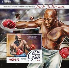 Guinée 2016 neuf sans charnière jack johnson 70th memorial anniv 1v s/s boxe sports