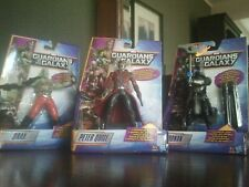 3x Marvel 6¨ GUARDIANS OF THE GALAXY - STARLORD RONAN DRAX (Galactic Battlers)