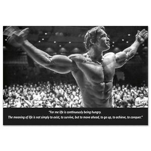 Arnold Schwarzenegger Motivational Poster - Body Building Inspirational Quote