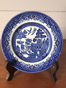 Contemporary Blue Willow Churchill Porcelain Bread And Butter Plate England