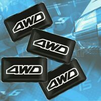4WD 3D Dome Interior Stickers Emblems 4x4 Logo Offroad Badges Decals For SUV 4WD