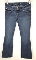 American Eagle Artist Stretch Womens Jeans Flare Tag Size 8 Long Actual 31x33
