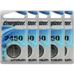5 Pcs Energizer CR2450 ECR2450 CR 2450 3V Lithium Coin Cell Button Battery