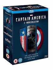 CAPTAIN AMERICA 3-Movie Collection [Blu-ray Box Set] Marvel Trilogy Films 1 2 3