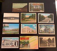 Lot of 11 Original Vintage Postcards - New York - Watkins Glen, Deposit +