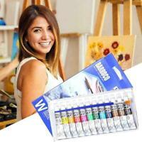 12 Color Acrylic Paint Set 6 Ml Tubes Artist Draw Painting Pigment HOT D8L0