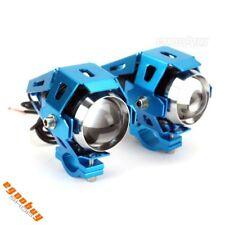 Motorcycle Blue Front Fog Spot Light Lamp LED Daylight Maker Headlight Universal