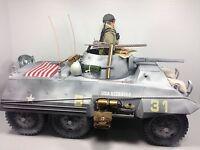 1/6 21ST CENTURY US 3RD ARMORED DIV M-8 GREYHOUND SCOUT CAR WW2 TANK DRAGON BBI