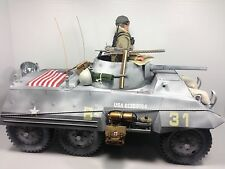 1/6 21ST CENTURY US 3RD ARMORED DIV M-8 GREYHOUND SCOUT CAR WW2 TANK DRAGON BBI