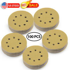 5inch 220 Grit Hook and Loop Sanding Discs Orbital Sander Sheets Dustless 8 hole