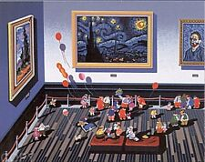 "Hiro Yamagata       ""Galerie Van Gogh""       Serigraph on Paper   BA"