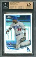 2013 topps chrome refractors #138 YASIEL PUIG dodgers BGS 9.5 (9.5 9.5 10 9.5)