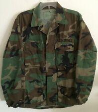 Vintage 1980's US Marines Woodland Camo Combat Coat Cotton/Nylon Small Regular